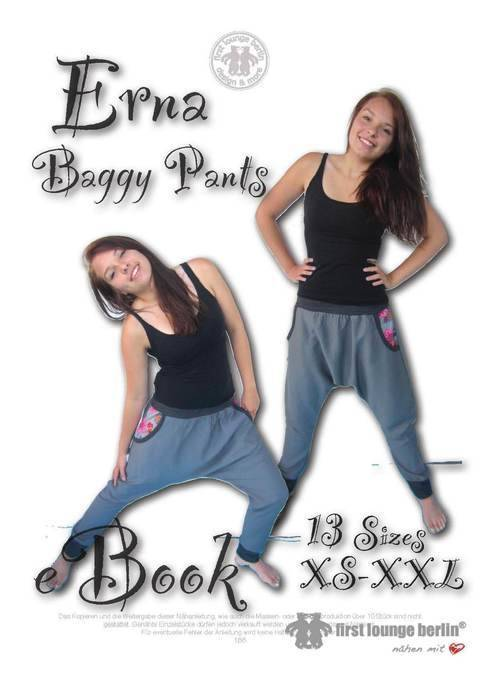 US-Erna *** E-Book Pdf instant Download - hip trousers with side pockets sewing patterns size xs-xxl - designed and handmade with Love by firstloungeberlin at Makerist