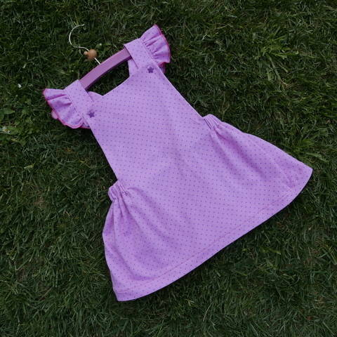 Skirt dress PDF Pattern for babies - girls , with 2 versions