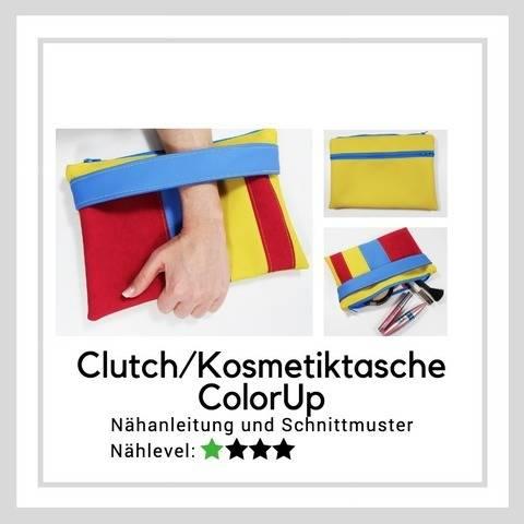 Ebook Clutch/Kosmetiktasche ColorUp (zwei Größen) bei Makerist