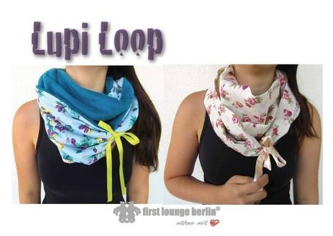 US-Lupi Loop - E-Book file sewing instruction for a Loop Scarfs for the whole family size XS-XL idea & design from firstloungeberlin at Makerist