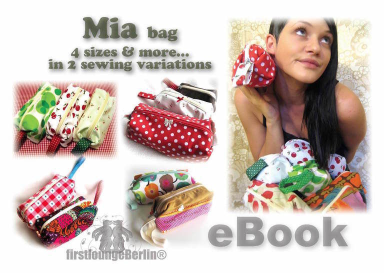 US-Mia *** cosy bag eBook PDF-file sewing instruction WITHOUT pattern in 4 table sizes handmade with love firstloungeberlin at Makerist - Image 1