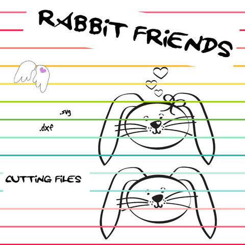 plotting cutting file RABBIT FRIENDS dxf svg Engelinchen at Makerist