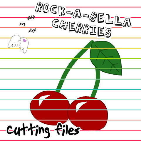 plotting cutting file ROCK-A-BELLA CHERRIES dxf svg Engelinchen