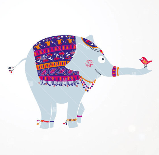 Indischer Elefant - Plotterdatei  bei Makerist - Bild 1