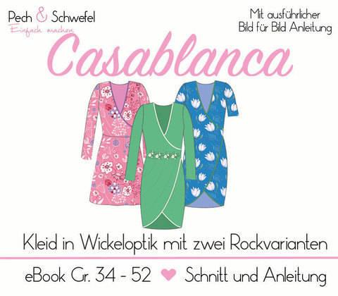 "Ebook Kleid ""Casablanca"" Gr. 34 - 52 A0/A4"