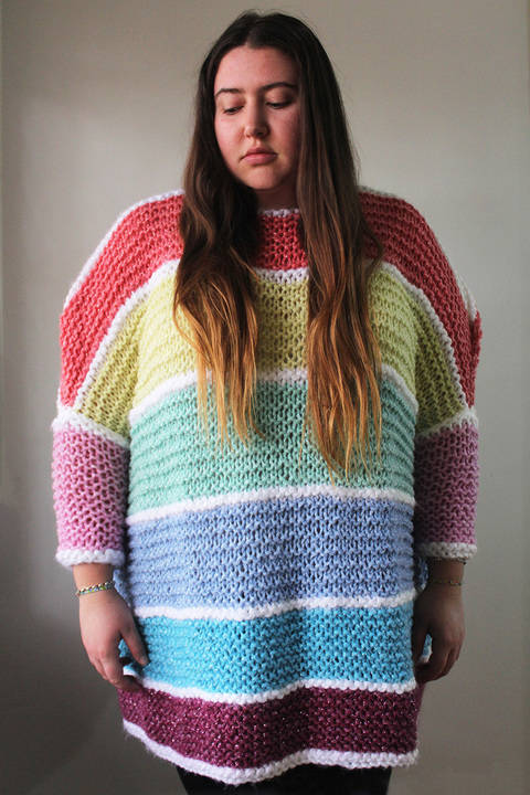 Knitted Candy Jumper - Knitting Pattern