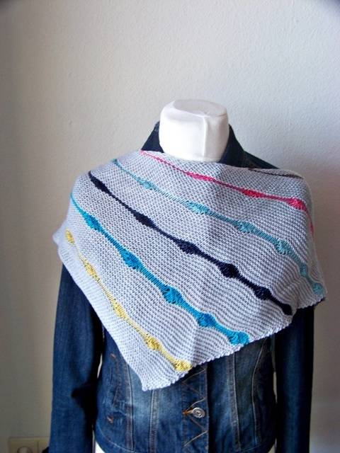 "Knitting pattern shawl ""Hip Hop"""
