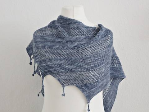 "Knittinp pattern shawl ""Zibba"""