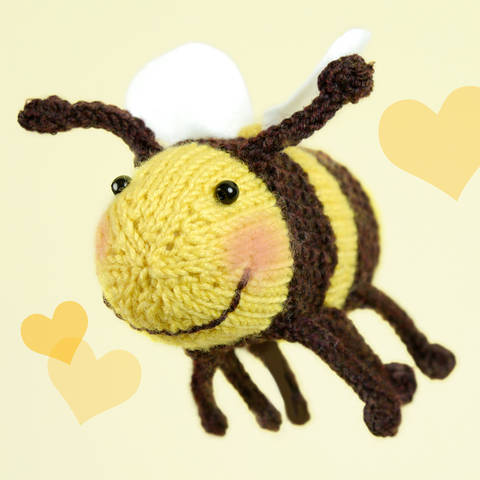 Bumble Bee, Stash Gobblers #02, knitting pattern at Makerist