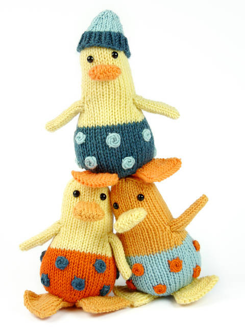 Mini Ducklings, Stash Gobblers #05, knitting pattern