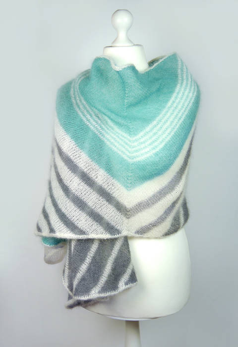 Shawl/stole/wrap WINDSEEKER, knitting pattern