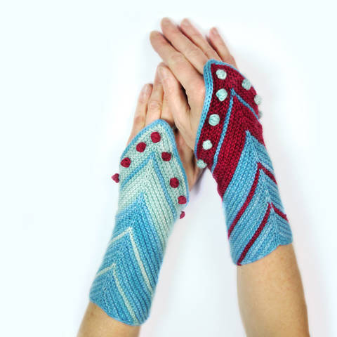 wrist warmers / cuffs HAMBURG AHOI knitting pattern