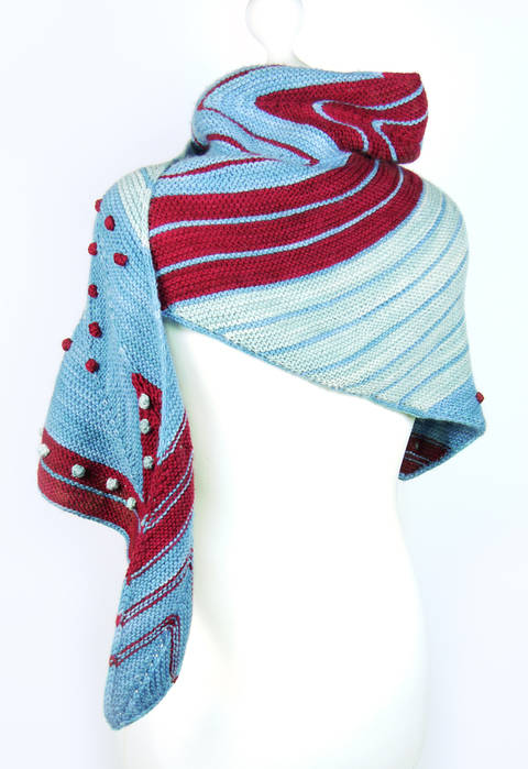 shawl HAMBURG AHOI knitting pattern