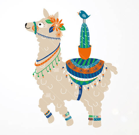 Lama & cactus - Cutting file at Makerist