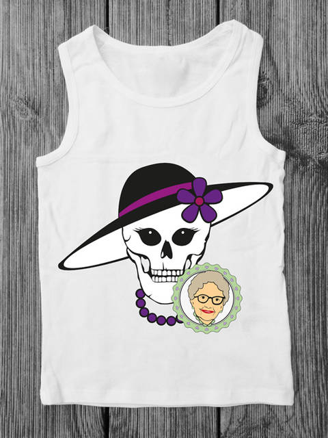 Cutting file Skallita -  multicolor cool skull plot file, especially for women and teens - with manual