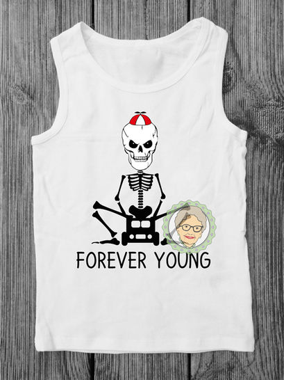 """cutting file Skalle """"Forever Young"""" - multicolor cool skeleton plot file, especially for men and boys - with manual at Makerist - Image 1"""