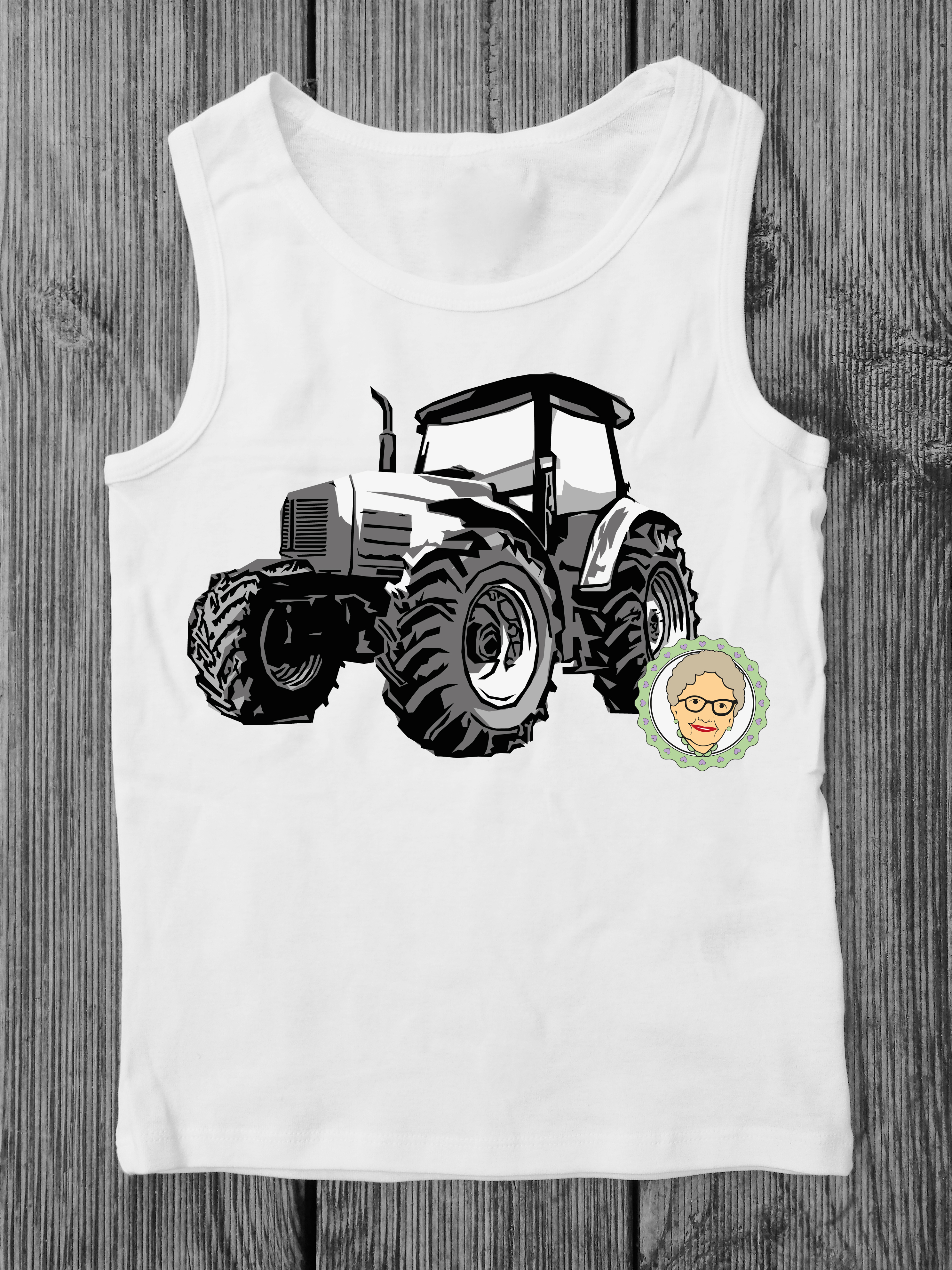 Cutting file tractor - multicolored cool toeing vehicle, with manual