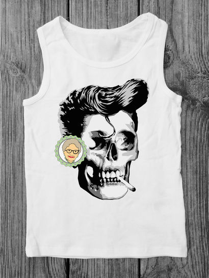 cutting file Smoker - multicolored realistic skull - rockabilly stil, for adults - with manual at Makerist - Image 1