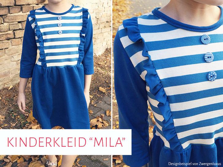 """Kinderkleid """"Mila"""" Schnittmuster 92 - 146 bei Makerist - Bild 1"""