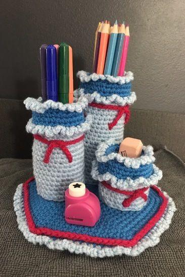 Tuto pdf pots à crayons crochet chez Makerist - Image 1