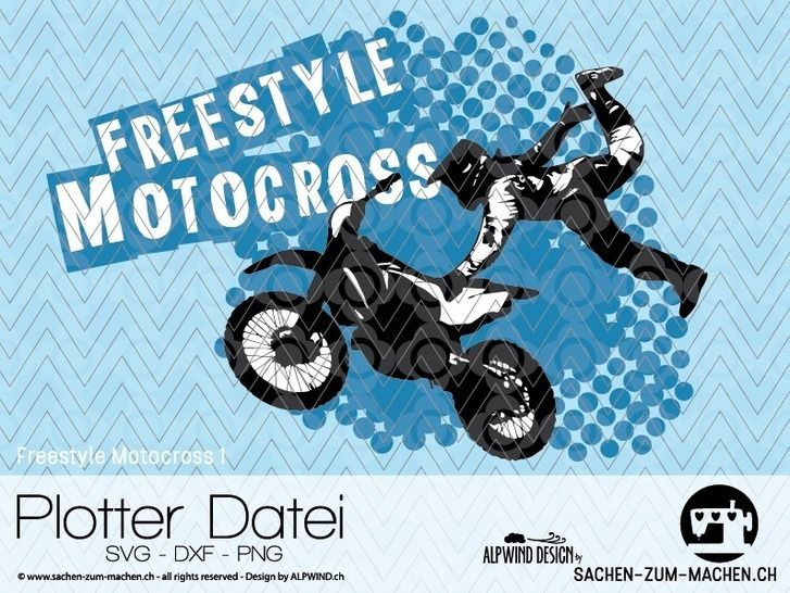 "cutting file ""Freestyle Motocross #1"" - ALPWIND ® at Makerist - Image 1"