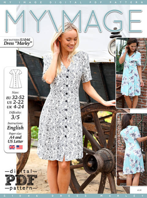 Dress MARLEY PDF Pattern + Tutorial at Makerist