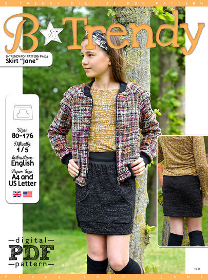 Skirt JANE PDF Pattern + Tutorial at Makerist - Image 1