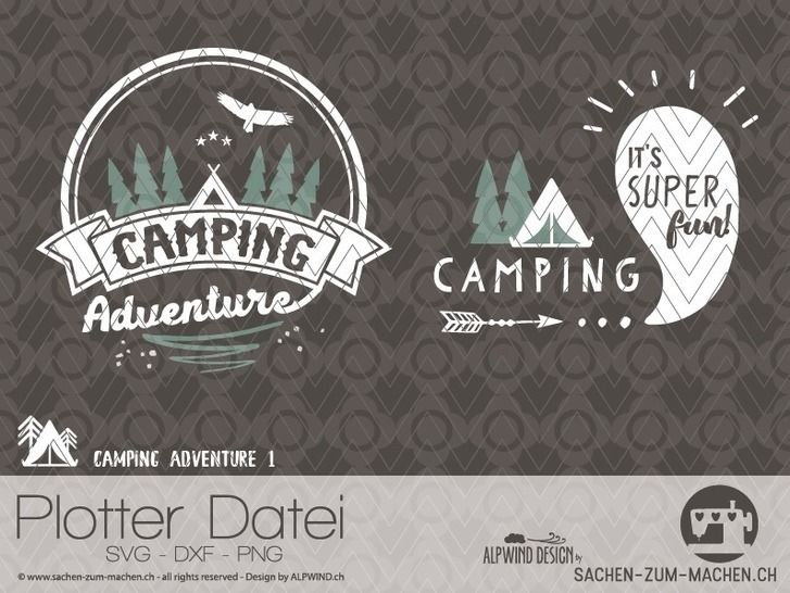"cutting file ""camping adventure #1"" - ALPWIND ® at Makerist - Image 1"