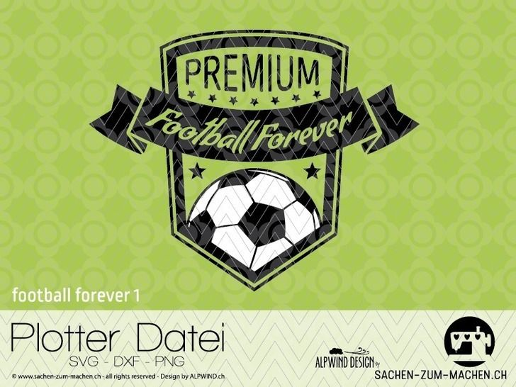 "cutting file ""football forever #1"" - ALPWIND ® at Makerist - Image 1"