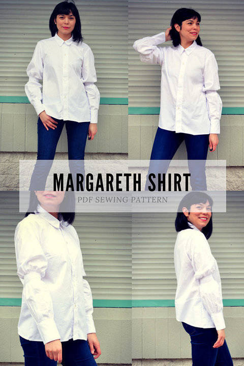 The Margareth Shirt PDF sewing pattern and sewing tutorial at Makerist