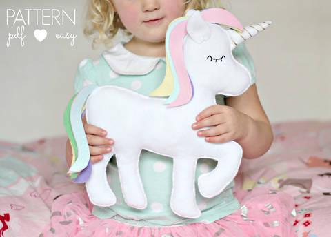 Felt Toy Unicorn Pattern - Unicorn Pillow - Unicorn Cushion