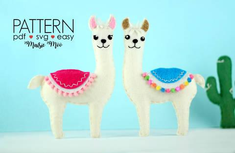 Llama Felt Sewing Pattern