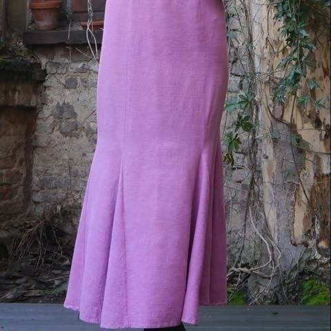 PDF sewing pattern E-Book Godet skirt with instructions