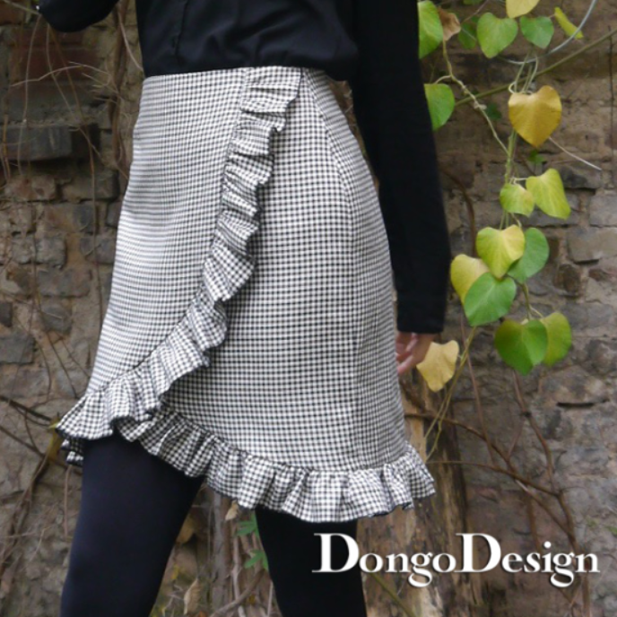 PDF sewing pattern E-Book skirt Lauren with instructions