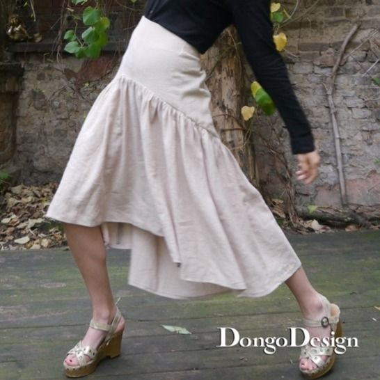 PDF sewing pattern E-Book skirt Djeylou with instructions at Makerist - Image 1
