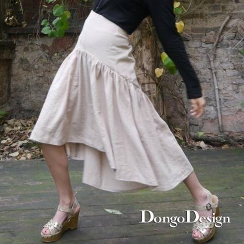 PDF sewing pattern E-Book skirt Djeylou with instructions