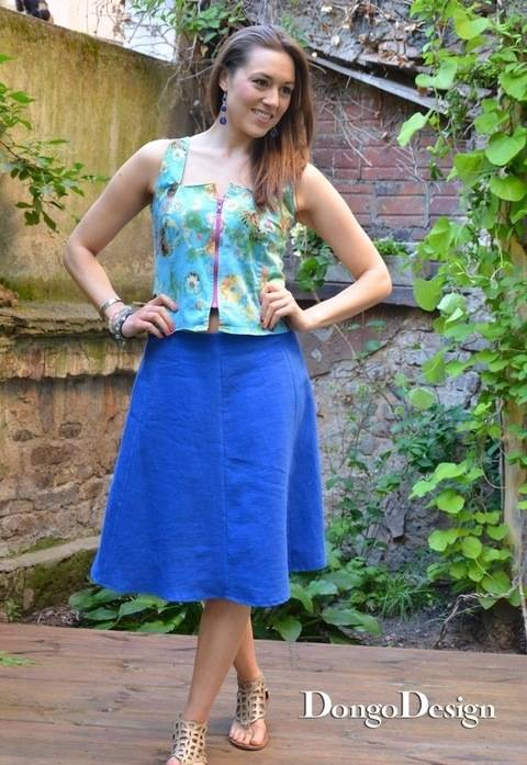 PDF sewing pattern E-Book Skirt in 6 Lanes with instructions