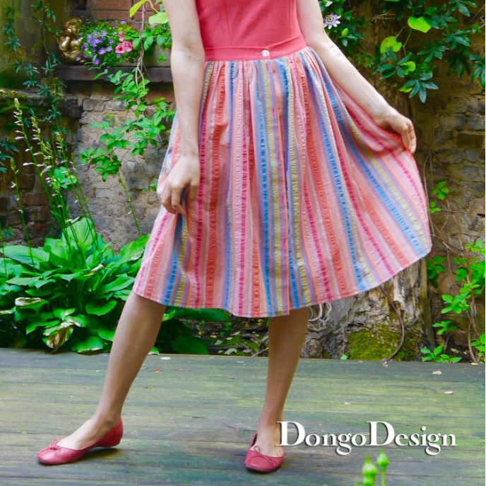 PDF sewing pattern E-Book Skirt Marilyn with instructions