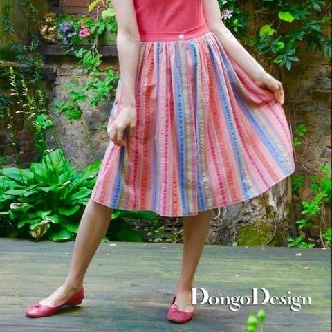 PDF sewing pattern E-Book Skirt Marilyn with instructions at Makerist