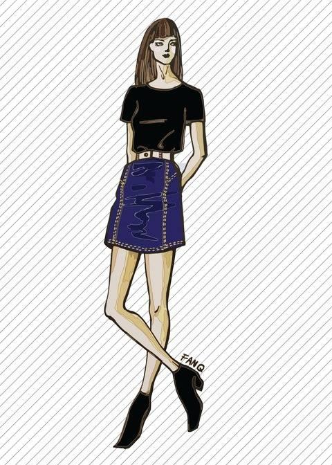 SK709 Jupe en jean - Patron de couture PDF chez Makerist