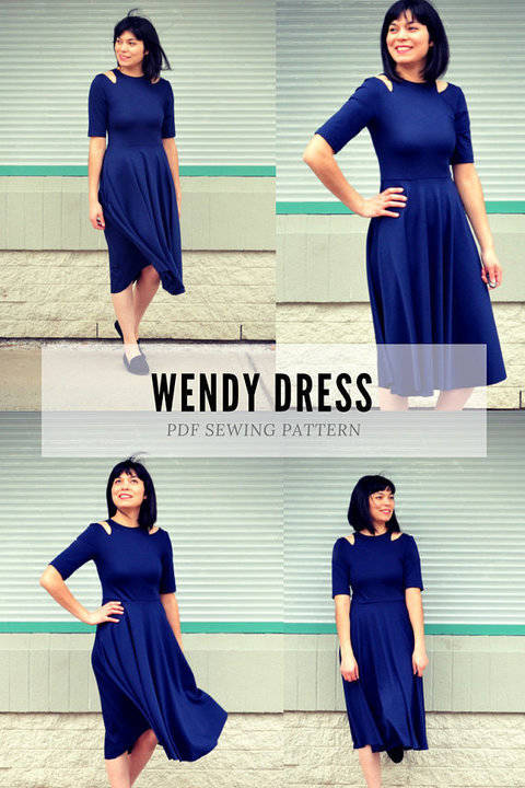 The Wendy Dress PDF sewing pattern and sewing tutorial at Makerist