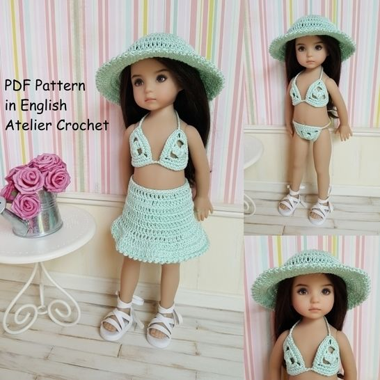 """Beachwear"" for Little Darling Effner Doll at Makerist - Image 1"