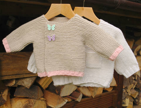 Easy baby cardigan at Makerist