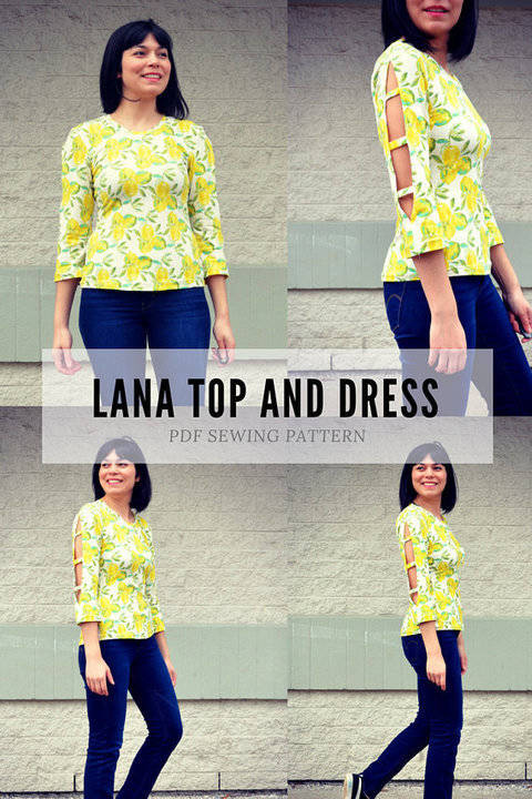 the Lana Top and Dress PDF sewing pattern and tutorial