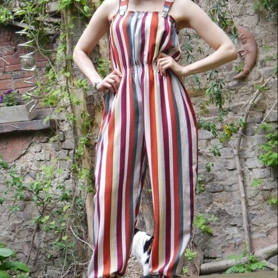 PDF sewing pattern E-Book Jumpsuit Rebecca with instructions at Makerist - Image 1