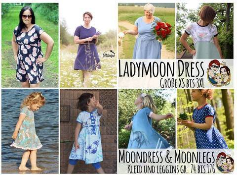 Kombi-Ebook Moondress 74 bis 176/Ladymoon Dress XS bis 3XL