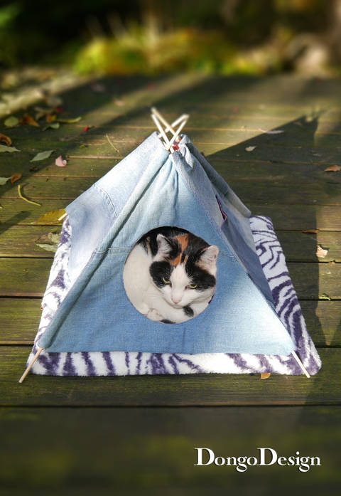 PDF sewing pattern Pets-Tipi PDF File with E-Book Sewing instructions