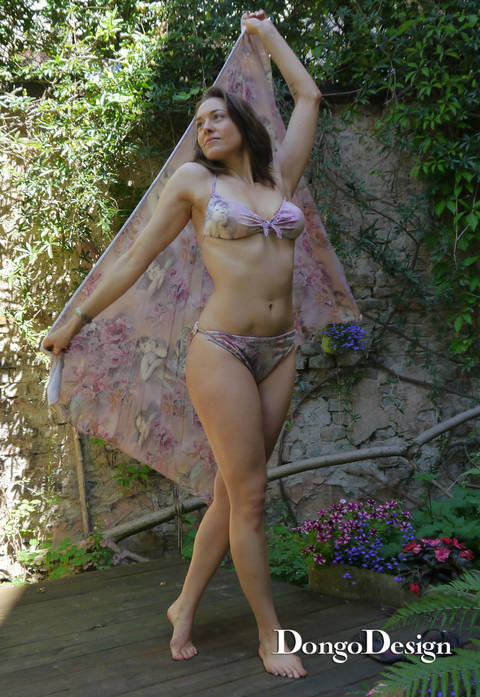PDF sewing pattern Bikini Raffaela PDF File with E-Book Sewing instructions