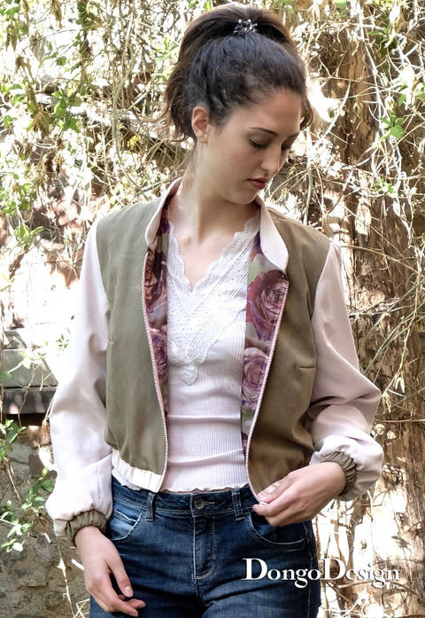 PDF sewing pattern E-Book Blouson Janina