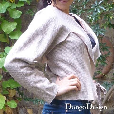 PDF sewing pattern E-Book Collar-sleeve-jacket